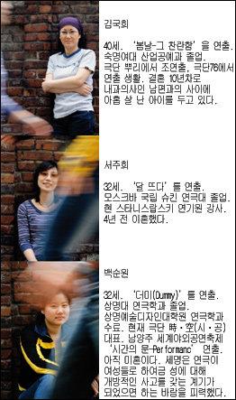 """연극연출가 김국희·서주희·백순원이 거침없이 얘기하는 """"우리의 섹스 체험 & 섹스 고민"""""""