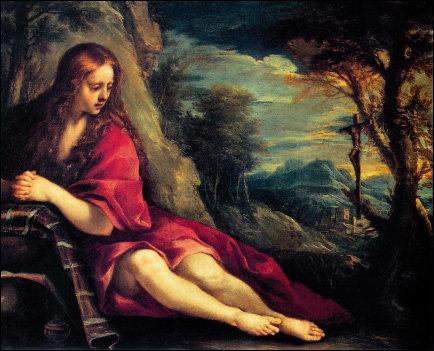 간절한 참회의 마음이 느껴지는 막달라 마리아의 초상