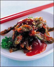 맛있는 상추 & 고추 요리