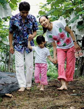 아나운서 한준호 가족의 포도농장 체험