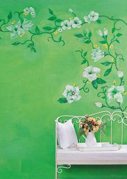 집 안에 포인트를 주는 벽화 그리기