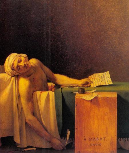 절로 고개가 숙여지는 비장한 죽음의 순간 '마라의 죽음'