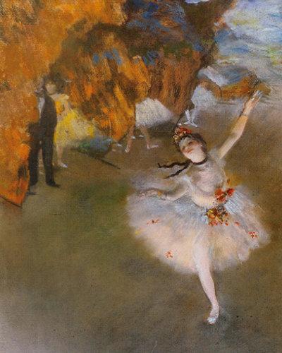 파스텔이 빚어낸 아름다움 '무대 위의 발레리나'
