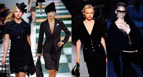 가을 유행 컬러 블랙, 세련되게 입는 법