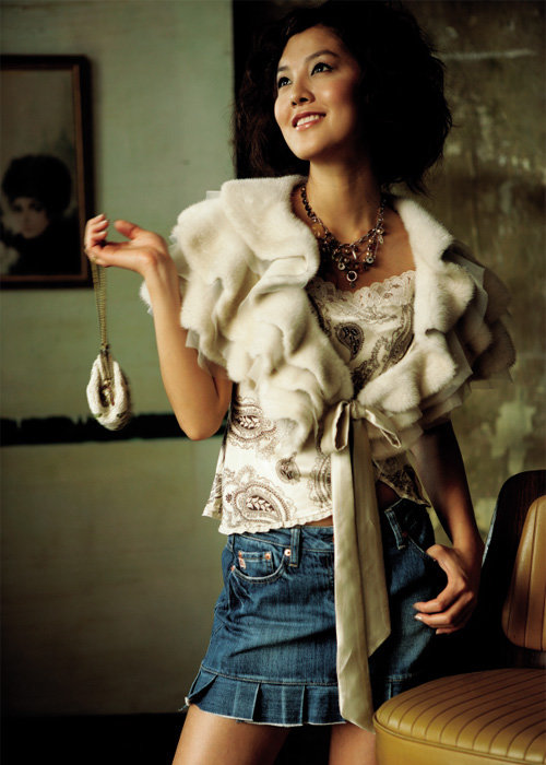 탤런트 김성은의 패션 감각 5 style, Winter Fur