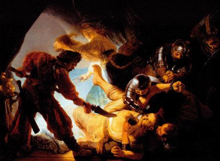 유혹에 넘어간 자의 비극 그린 렘브란트의 '눈먼 삼손'