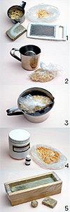 자투리 비누 녹여 만든 리배칭 비누