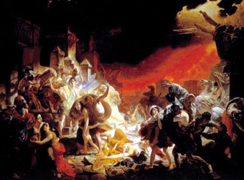 대재앙에 맞닥뜨린 인간의 공포 그린 '폼페이 최후의 날'