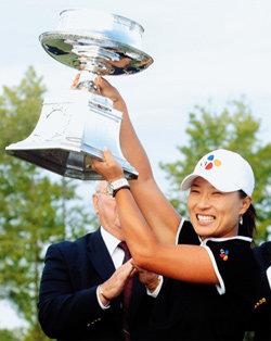 슬럼프 딛고 맥도날드LPGA 챔피언십에서 우승한 박세리