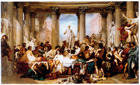 진정한 적은 내부에 있음을 보여주는 '로마인의 타락'