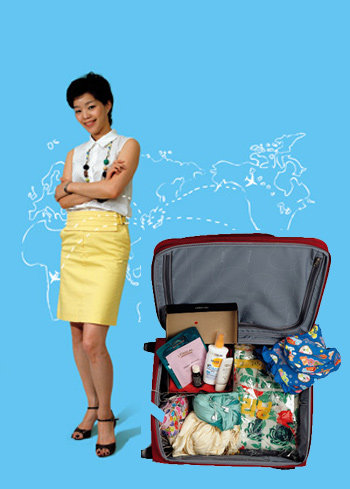 스타일리시 맘 3인의 여행 가방 '잘' 싸는 방법