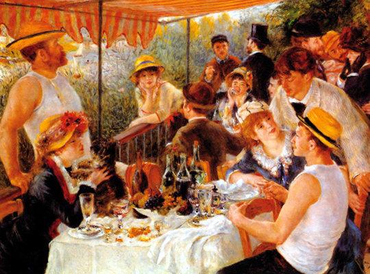 빠른 붓놀림과 밝고 화사한 색채로 삶의 기쁨 그린 '선상 파티'