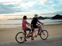 선유도 명사십리 해변과 섬 사이 자전거 하이킹 외