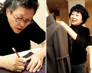 함께 그리고 만든 옷으로 전시회 연 화가 김점선·디자이너 이광희