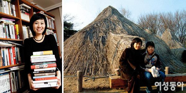 거실을 서재로 바꾸고 아이 독서·논술 직접 지도하는 정용실 KBS 아나운서