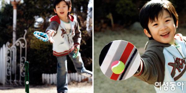 재활용품으로 만든 야외놀이 장난감