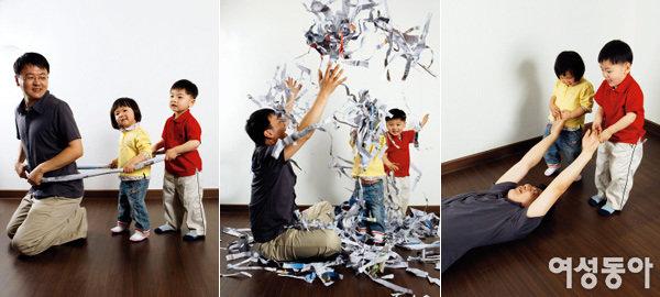 신문지 놀이로~ 아이 자신감 키워주기