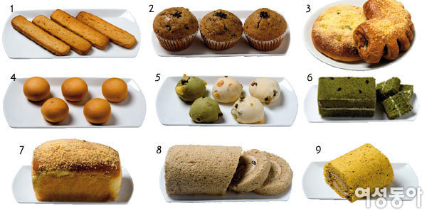 영양만점 콩으로 만든~ 크라운베이커리 케이크 & 빵