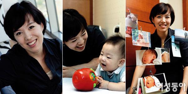 생후 8개월 된 아들 키우며 행복 느끼는~ 김은혜 기자
