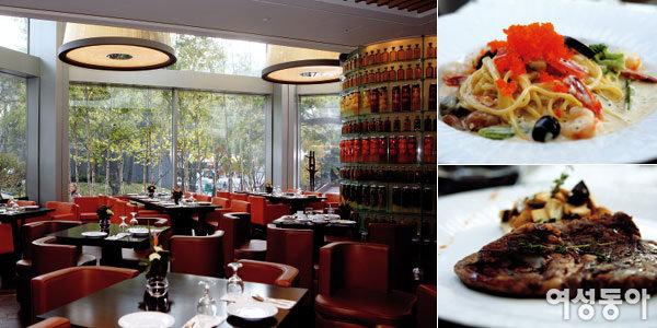 이탈리아 코스 요리와 오가닉 푸드 뷔페 즐길 수 있는 더트라이베카