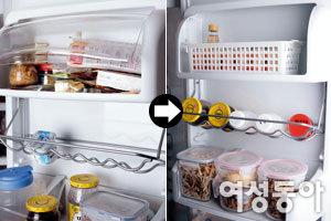 보기 좋고 찾기 쉬운 냉장고 수납법