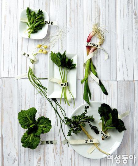 봄나물로 차리는 일주일 건강 식단