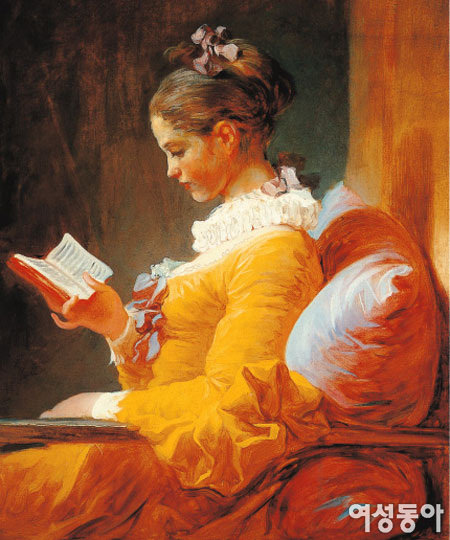 독서하는 소녀