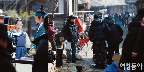 드라마 '이산' 야외 촬영현장