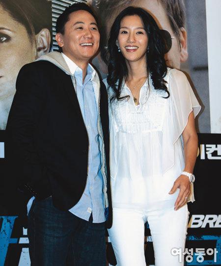 영화 홍보차 한국 찾은 이지호·김민 부부