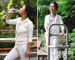 걷기와 스트레칭으로 날씬한 몸매 유지하는 탤런트 김희정