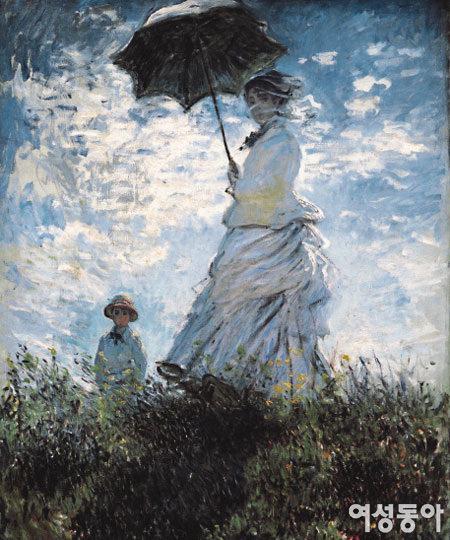 양산을 쓴 여인