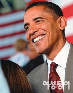 미국 최초 흑인 대통령에 도전하는 버락 오바마