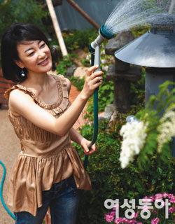 초록식물로 집 안 가꾸고, 유기농 식재료로 건강 챙기는~탤런트 김혜은의 자연주의 살림법