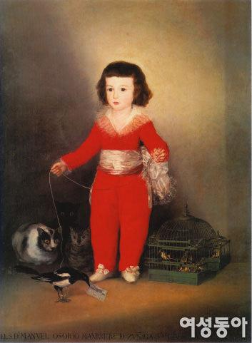 귀여운 소년의 초상에 삶의 교훈 담은  마누엘 오소리오