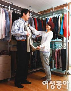남편 양복 깔끔하게 수납되는 드레스룸