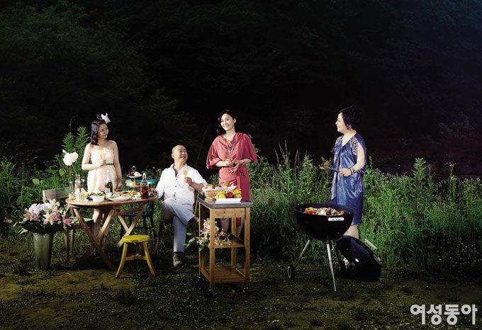 이응경 이진우 가족의 한여름 밤의 파티