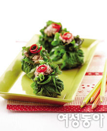 엽산 가득 녹색 밥상
