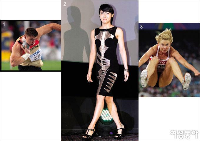 육상 선수들의 환상 몸매