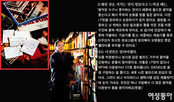 LP 음반 카페 주인장 김재원