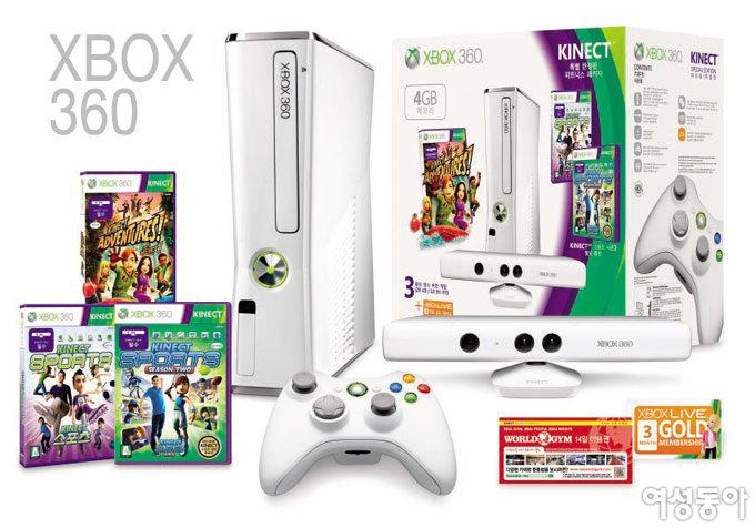 Xbox 360 4GB 키넥트 피트니스 패키지