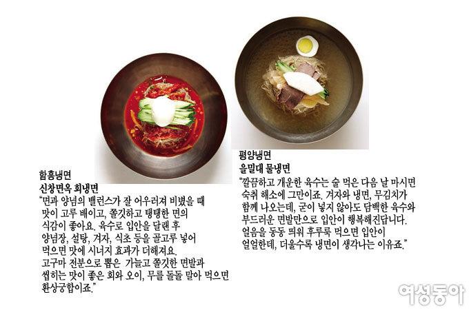 영원한 냉면 맞수 함흥비빔냉면 vs 평양물냉면