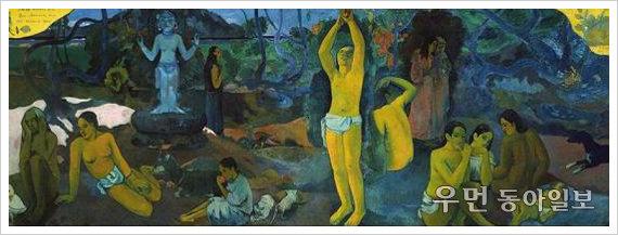 이지현의 아주 쉬운 예술이야기  고갱 '우리는 어디서 와서 어디로 가는가'…타히티 섬에서 자살 결심 후 그린 대작