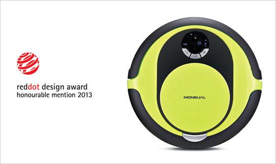 디자인을 입은 로봇 청소기 '모뉴엘', 2013 레드닷 디자인 어워드 수상!