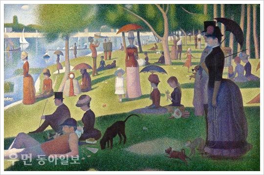 이지현의 아주 쉬운 예술 이야기… 햇빛이 필요한 당신을 위해! 조르주 쇠라 '그랑드 자트섬의 일요일 오후'