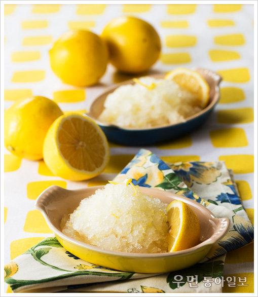 푸드 스타일리스트 오용은과 함께~르크루제 스톤웨어에 담긴 '레몬 셔벗'