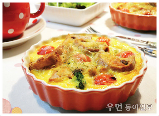 짭쪼롬한 맛이 일품! '토마토 곡물빵키쉬'
