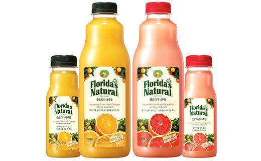 """""""물 한방울 넣지 않고 생오렌지, 생자몽을 그날 바로 짠 주스예요"""" … 프리미엄 주스 '플로리다 내추럴(Florida's Natural)' 출시부터 인기몰이!"""