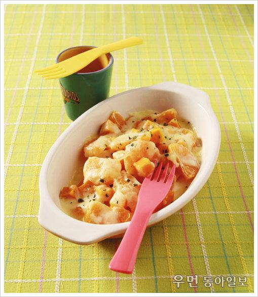 새콤달콤한 귤과 치즈의 만남, 귤 단호박 그라탕
