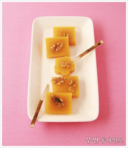 맛도 좋고 예쁜 영양 간식~단호박 양갱