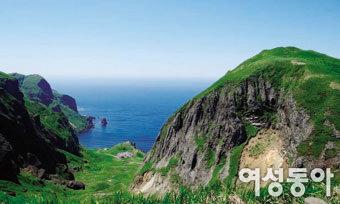 일본 최북단 바다 위의 신기루 리시리레분토